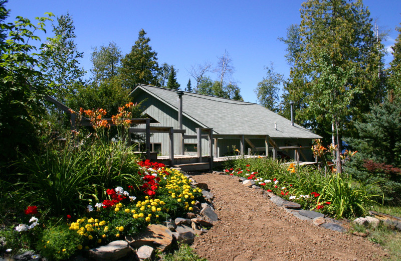 Exterior view of Gunflint Lodge.