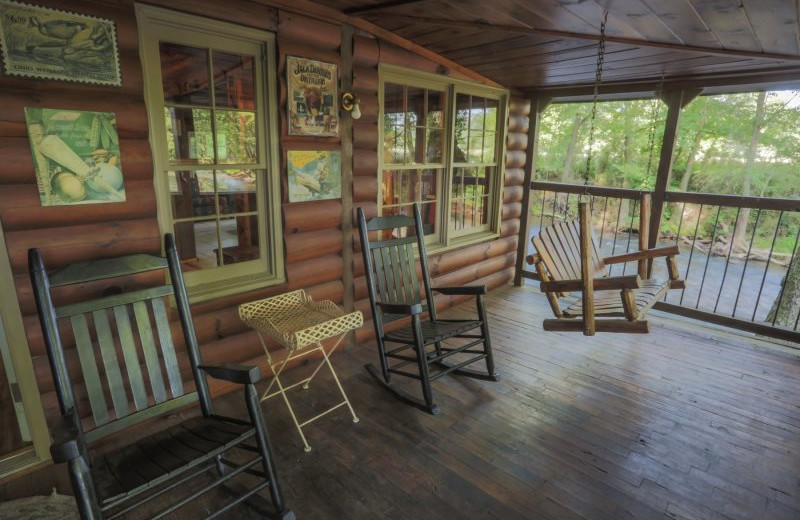 Rental deck at Wilderness View Cabins.