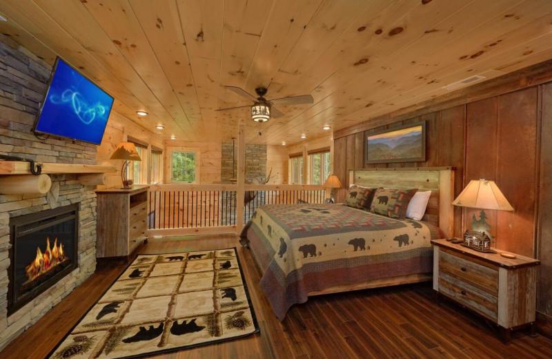 Rental bedroom at Elk Springs Resort.