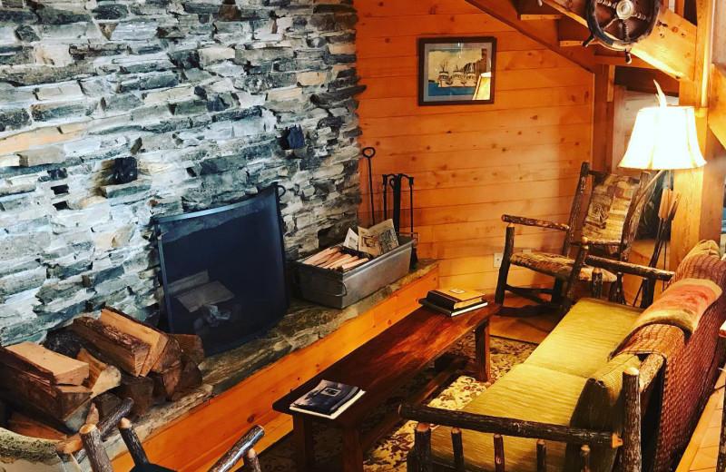 Lounge at Favorite Bay Lodge.