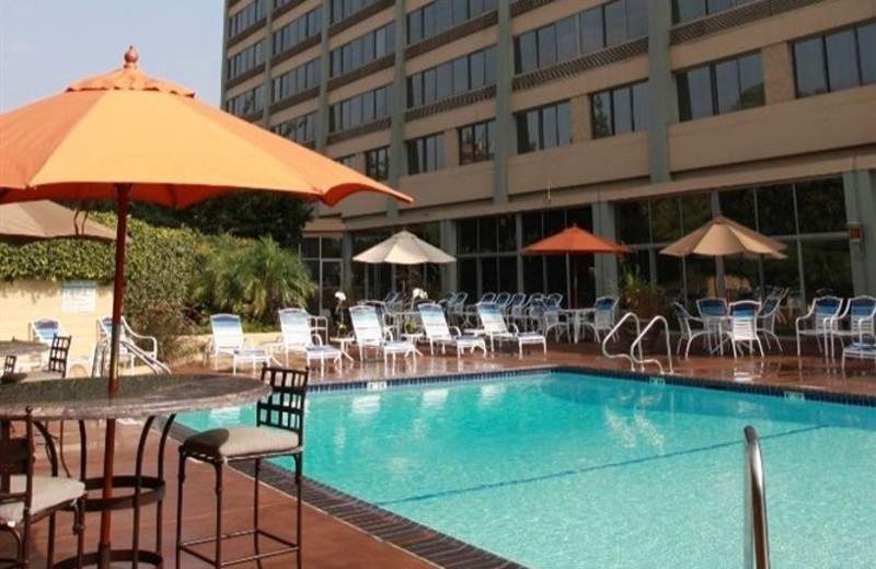 Outdoor pool at Radisson Hotel Los Angeles Midtown at USC.
