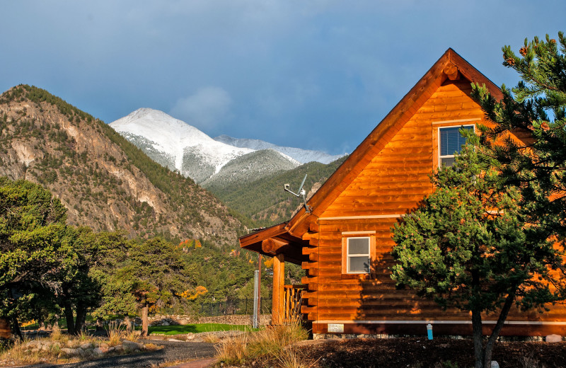 Cabin exterior at Mt. Princeton Hot Springs Resort.