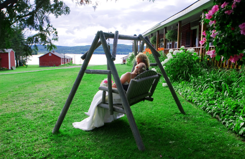 Rustic country-style wedding venue at Jackson's Lodge, Cnaan, Vermont's scenic remote Northeast Kingdom, on the shores of pristine international Lake Wallace.