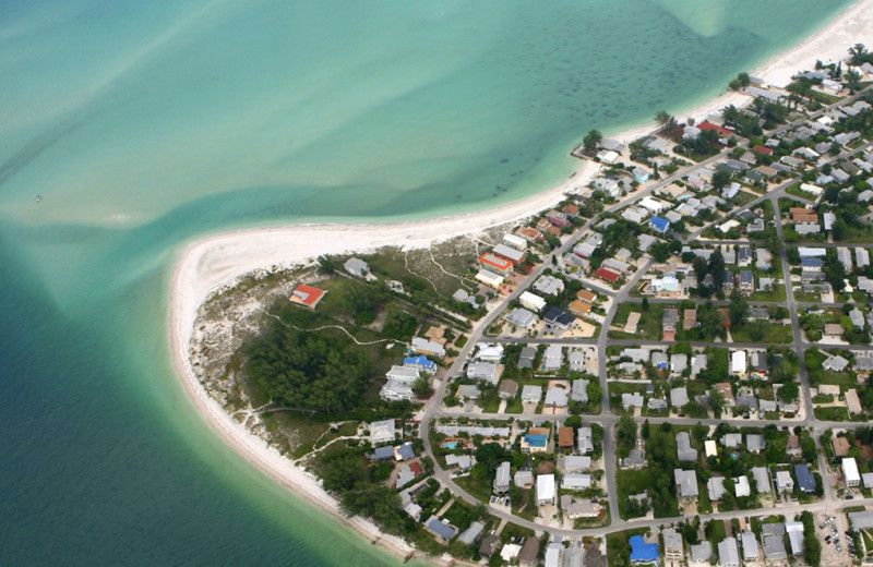 Aerial view of Island Real Estate.