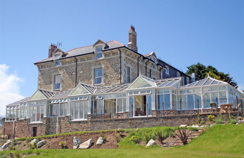 Exterior view of Porth Veor Manor.