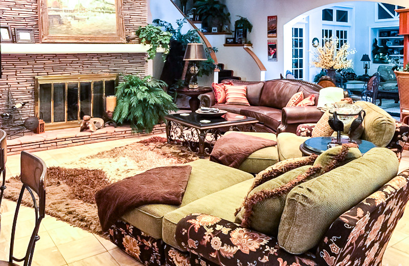 Rental living room at All Seasons Accommodations, Inc.