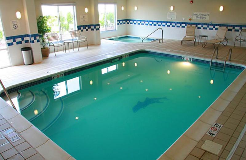 Indoor pool at Fairfield Inn & Suites by Marriott Toledo North.