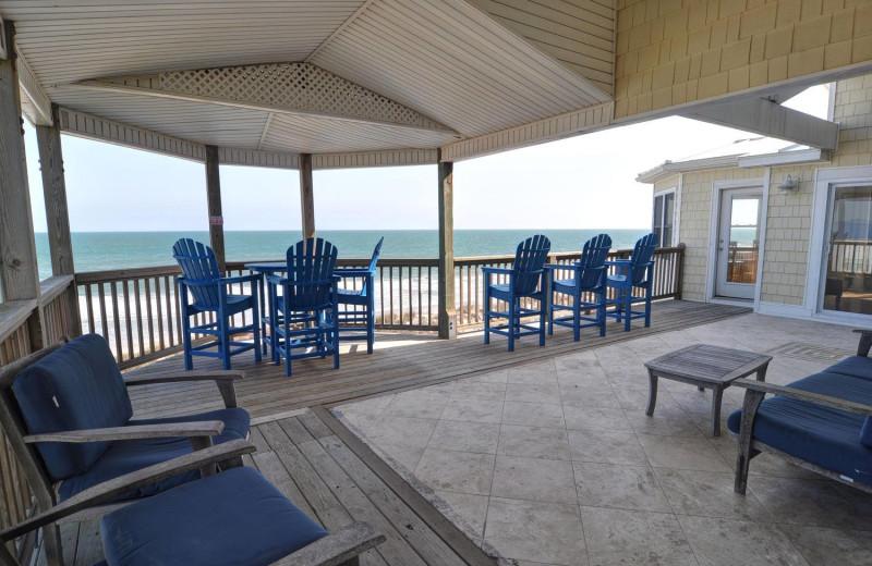 Rental patio at Treasure Realty.