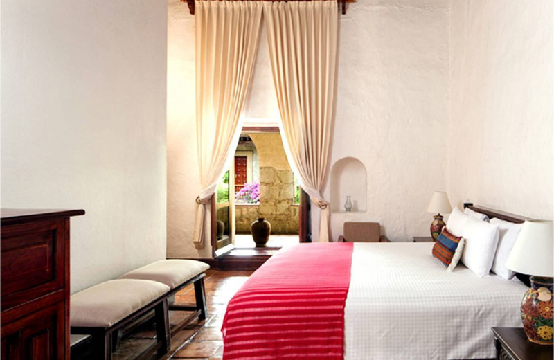 Guest room at Camino Real Oaxaca.