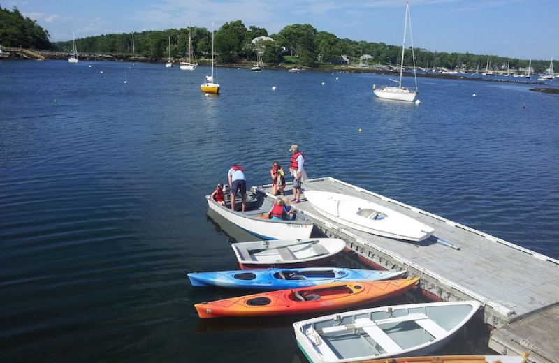 Dock at Harborfields Waterfront Vacation Cottages.