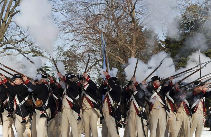 Civil war reenactment at The Quarters at Lake George.