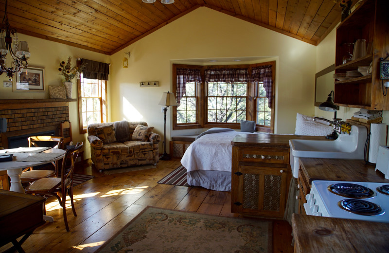 Guest room at Whispering Oaks Ranch.