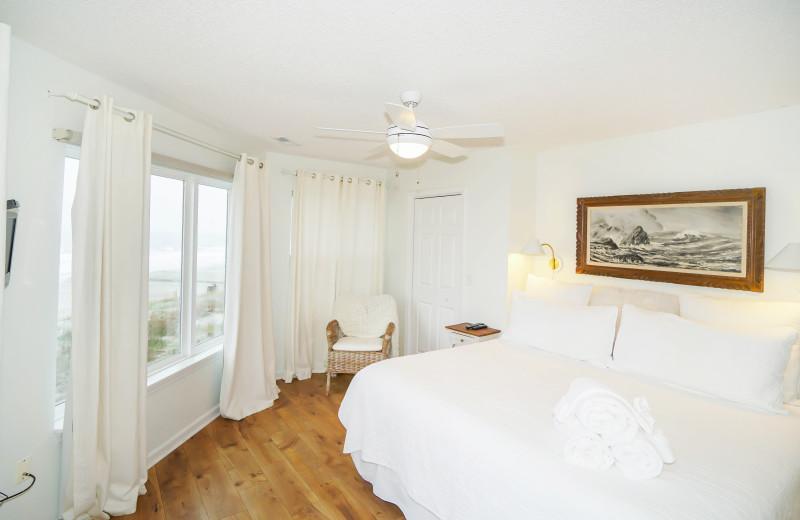 Rental bedroom at Sea Star Realty.