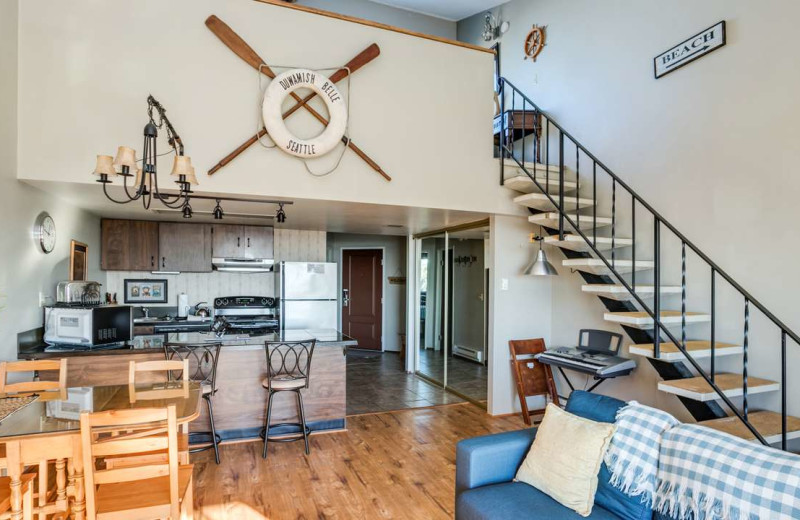 Rental kitchen at Gearhart by the Sea.