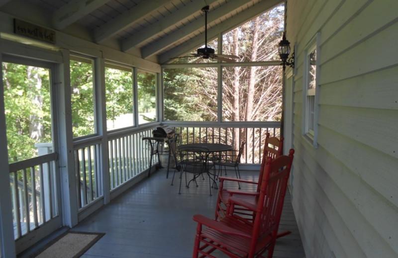 Cabin deck at Cabins at Highland Falls.