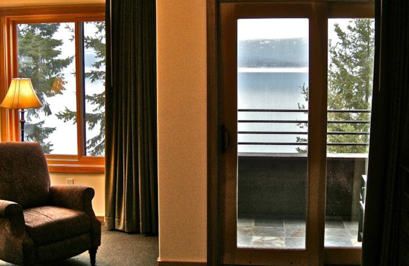 Guest view at The Lodge at Sandpoint.