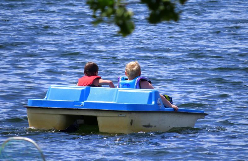 Paddle boat at Woodland Resort.