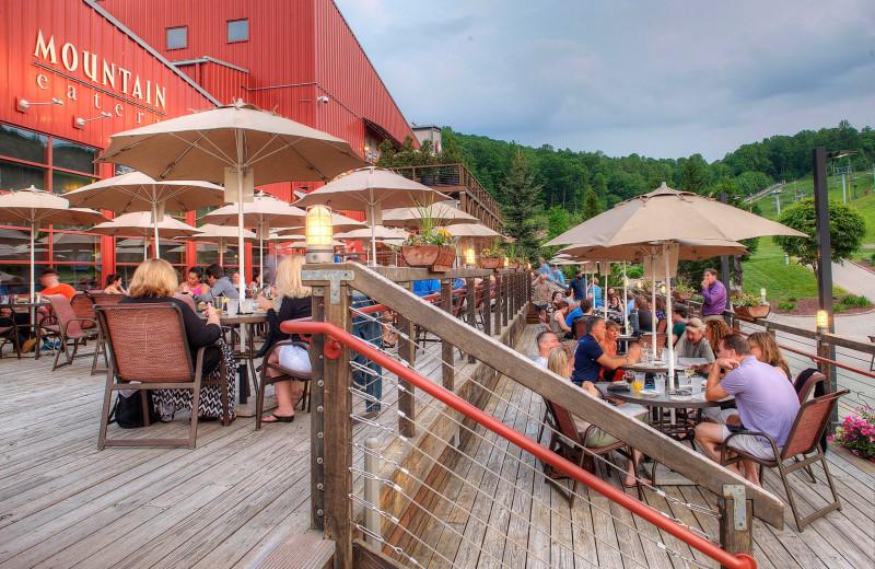 Patio at Bear Creek Mountain Resort.