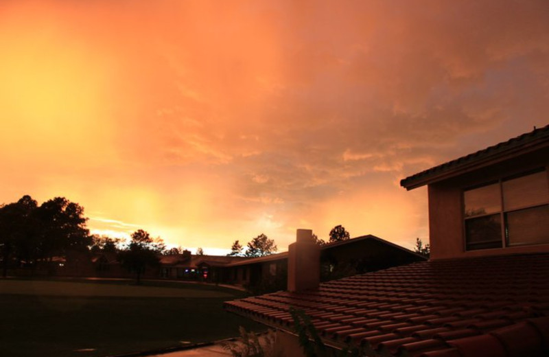 Sunset at Inn at Paradise.