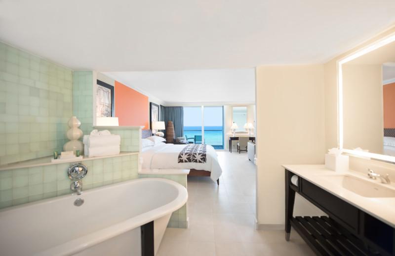 Guest room at Hilton Rose Hall Resort & Spa.