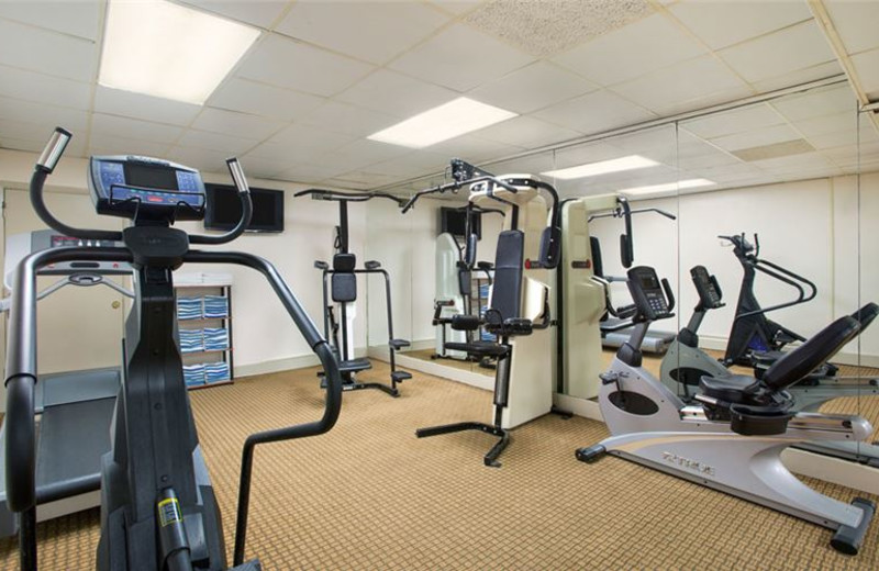 Fitness room at Quality Inn Oceanfront Ocean City.