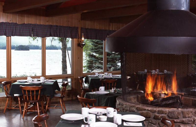 Dining room at Elk Lake Lodge.