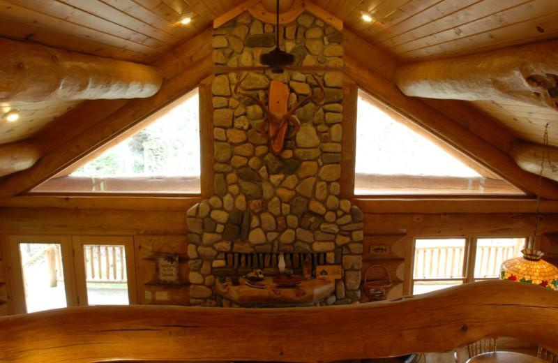 Cabin loft view at Buckhorn on Caribou.