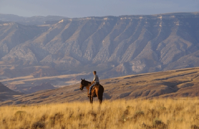 Horseback riding at The Hideout Lodge & Guest Ranch.