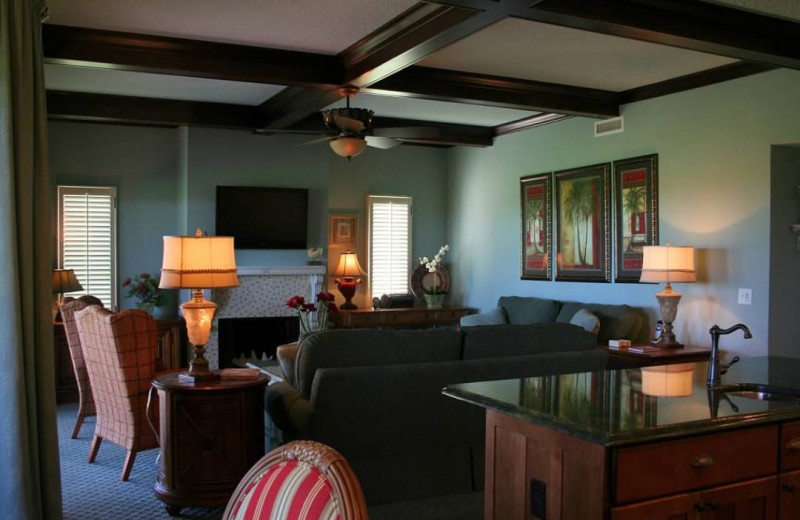 Rental living room at Amelia Island Rentals, Inc.