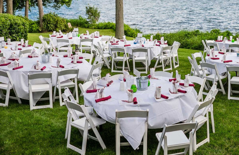 Wedding reception at Heidel House Resort.