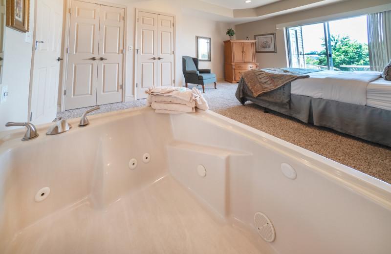 Condo bedroom at Thousand Hills Vacations.