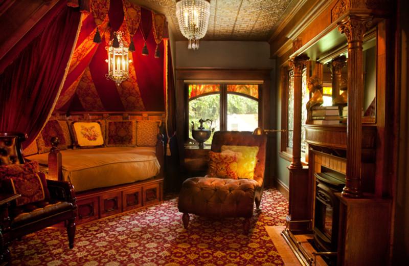 Guest room at Rivertown Inn.