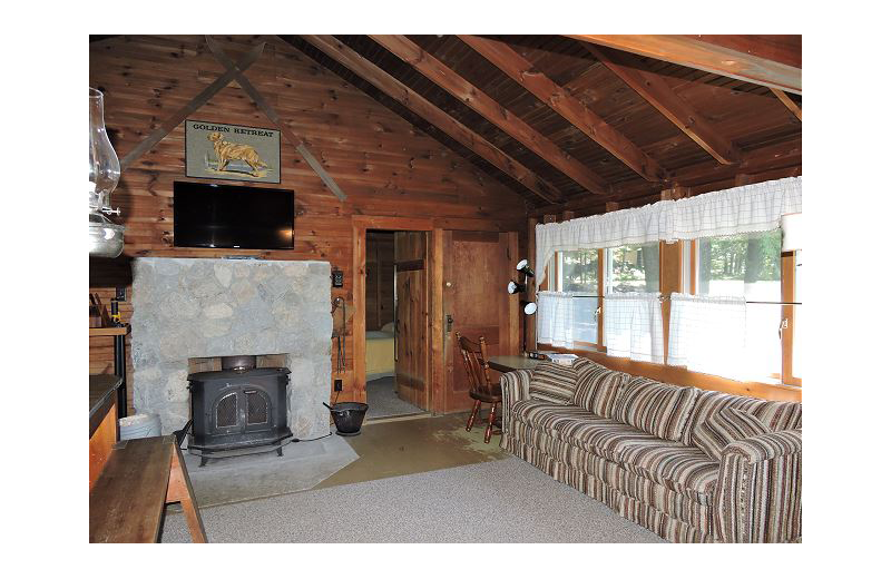 Rental living room at At the Lakes Vacation Rentals.