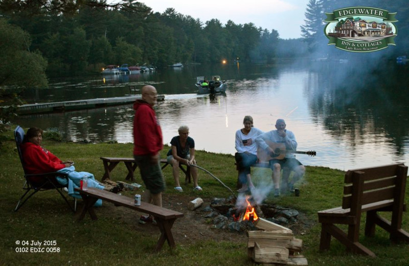 Campfires at Edgewater Inn & Cottages.