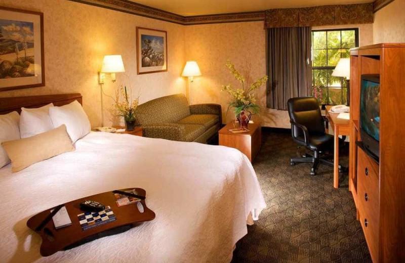 Guest room at Hampton Inn Prescott.