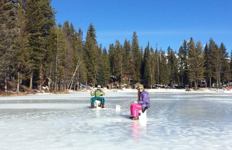 Ice fish at North Shore Lodge & Resort.