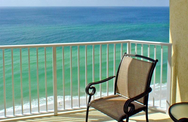 Balcony view at Royal American Hospitality.