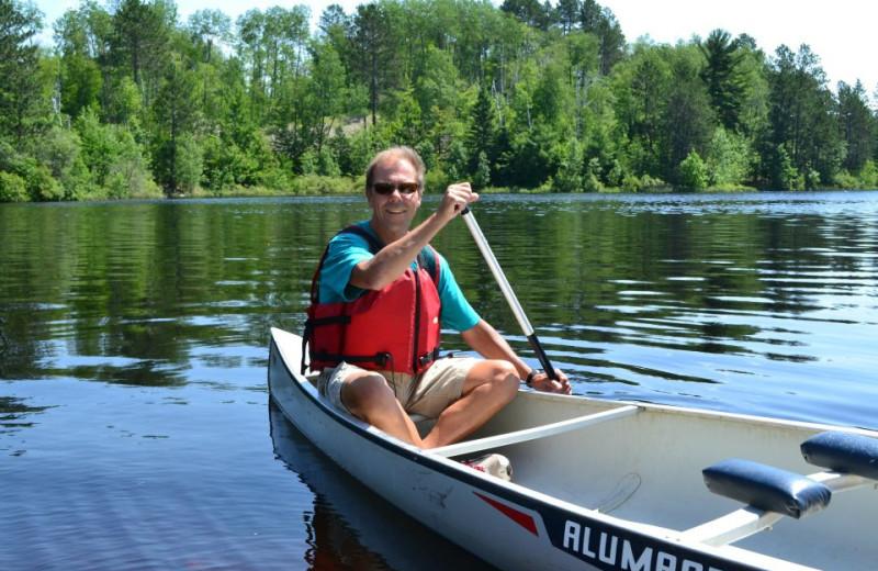 Canoeing at Giants Ridge Golf and Ski Resort.