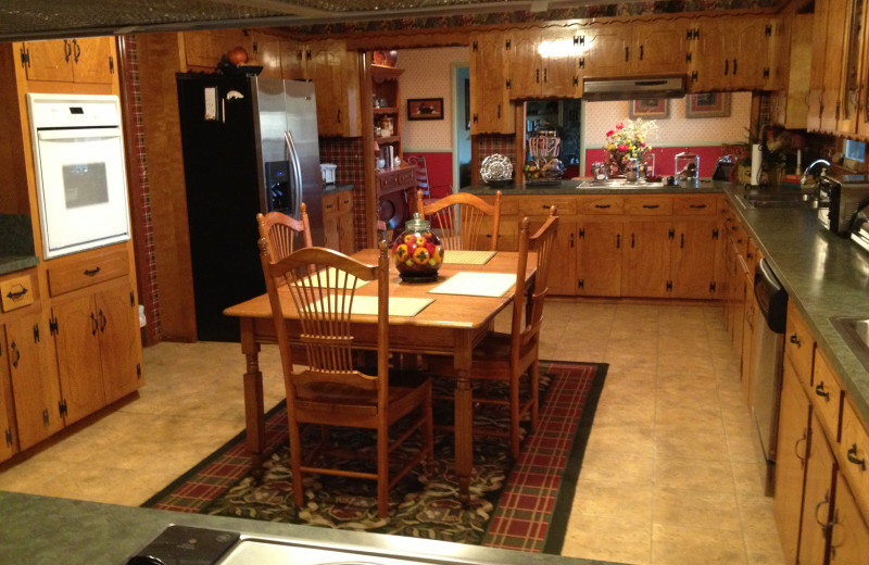 Guests have access to a fully furbished kitchen at McWilliam River Home.