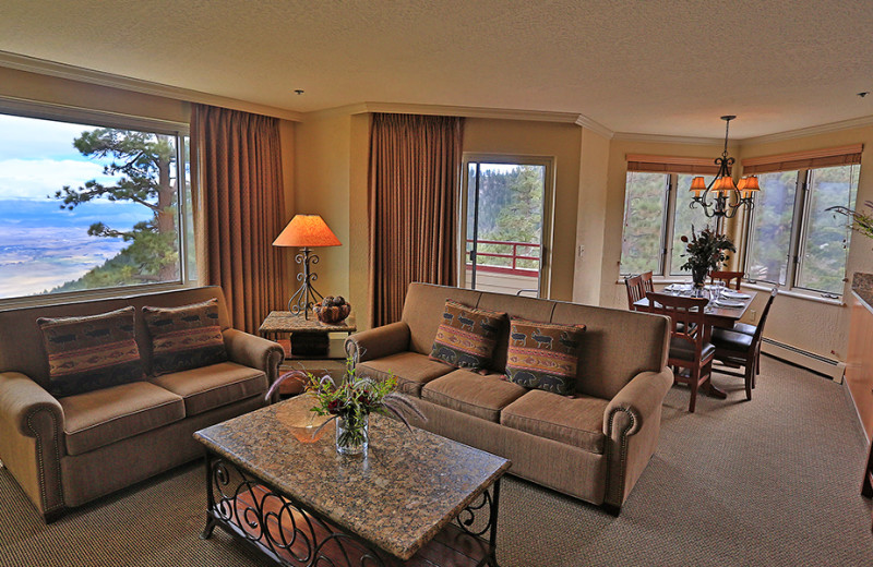 Guest living room at The Ridge Resorts.