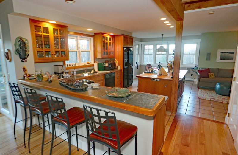 Rental kitchen at Stowe Country Homes.
