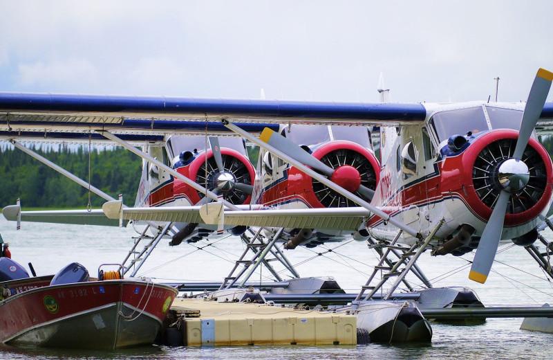 Planes at Alaska Rainbow Lodge.