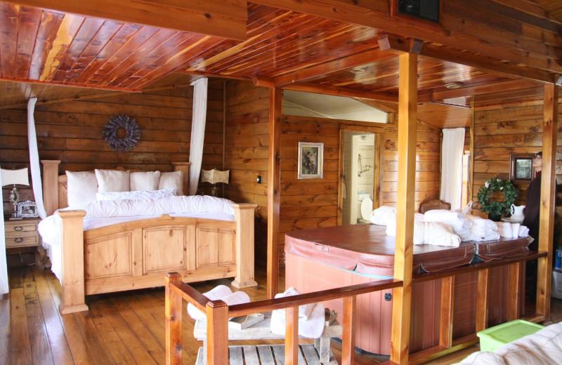 Cottage bedroom at The Reserve On Eagle Creek.
