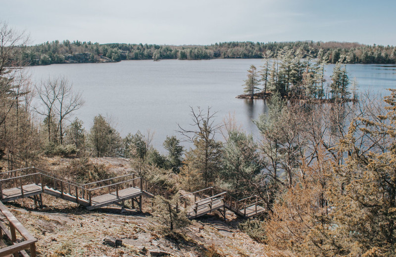 Lake view at Bobs Lake Cottages.