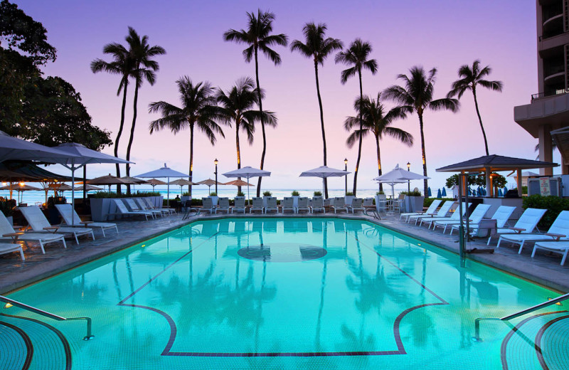 Outdoor pool at Moana Surfrider, A Westin Resort & Spa, Waikiki Beach.