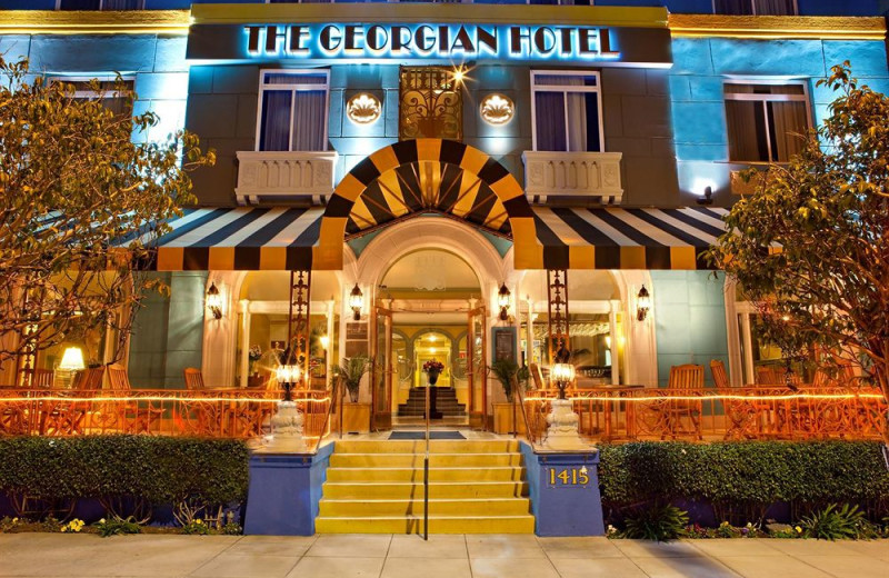 Exterior view of The Georgian Hotel.