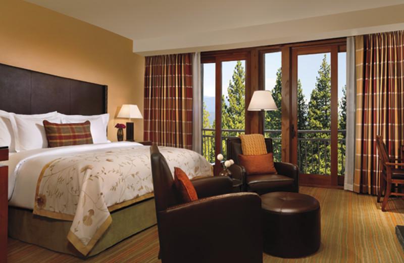 Guest room at Ritz-Carlton Lake Tahoe.