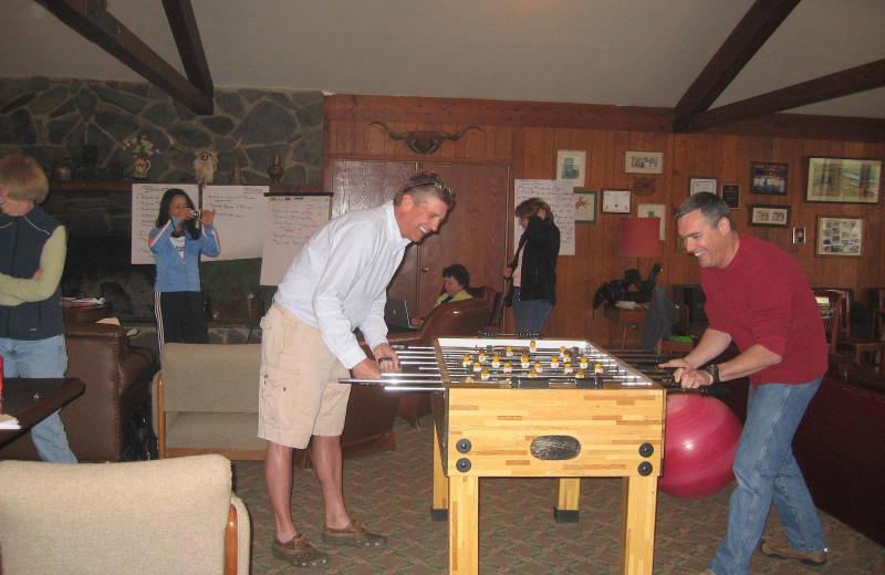 Game room at Rankin Ranch.