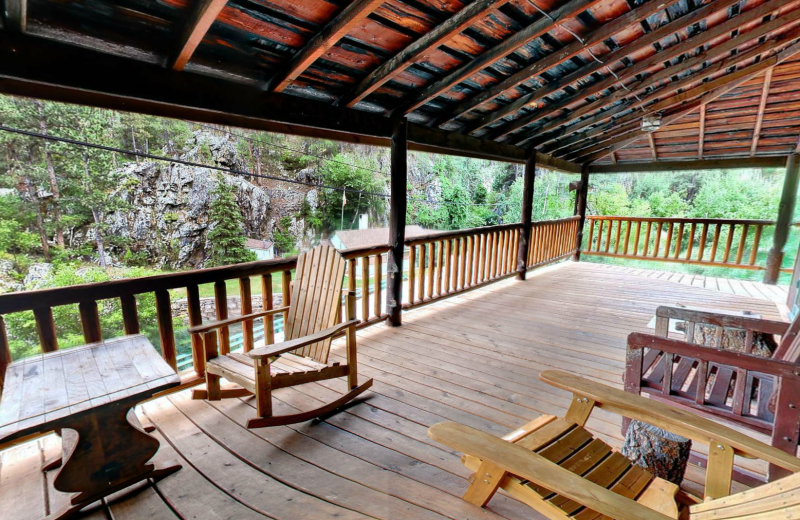 Porch view at Hisega Lodge.