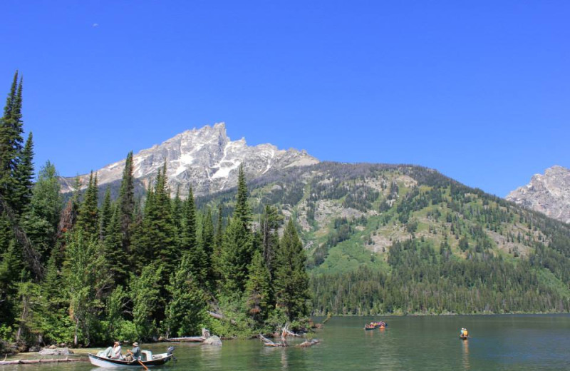 Fishing at Rendezvous Mountain Rentals & Management.